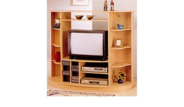 Amazoncom Entertainment Cabinet Tv Stand With Cd Rack And Dvd