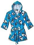 Splish Splash & Me Boys Beach Bath Shark Hooded Robe Cover Up, Kids Size 5/6