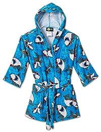 Komar Kids Shark Ocean Print Cotton Hooded Terry Robe Cover up, Sizes 4-12