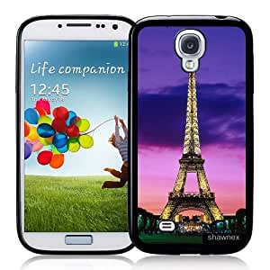 Galaxy S4 Case - S IV Case - Shawnex Eiffel Tower Night Lights Paris Samsung Galaxy i9500 Case Snap On Case