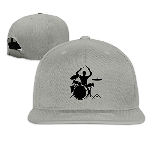 cool-a-drummer-and-drums-snapback-baseball-cap-hat-adjustable-one-size-fits-all-for-men-women-ash
