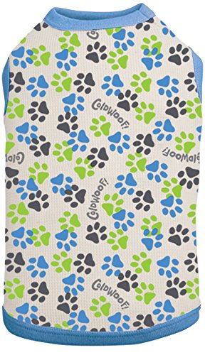 - ColdWoof Pet Thermal, X-Small, Green, Grey and Blue Paw Print Design
