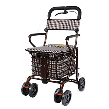 Carros para la Compra Walker Trolley Asiento Plegable Sillas ...