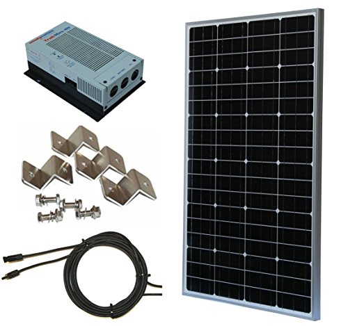 100W 100 Watt, 12 Volt 12V Solar Panel + MPPT Charge Controller Complete Kit for RV's, Boats and Off-Grid Battery Charging