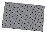 Drymate Litter Mat 20 inch x 28 inch Grey/Black Paw Striped Cat Litter Mat