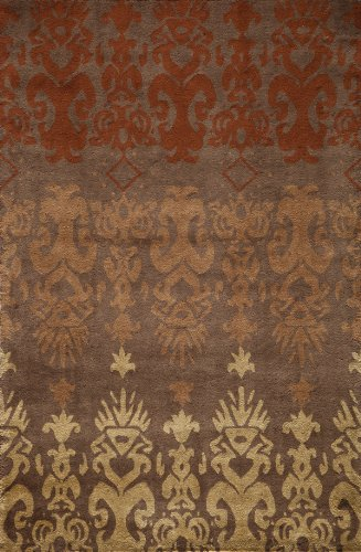 Momeni Rugs HABITHB-06BRN5080 Habitat Collection, 100% Wool Hand Tufted Transitional Area Rug, 5' x 8', Brown