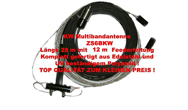 Antena de banda Bidatong ZS6BKW KW Multi 80-10m QRV ...