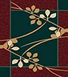Contemporary Area Rug, United Weavers Manhattan 2'x3' Brentwood Hunter Green