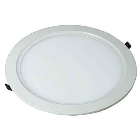 COUSON Downlight Led Circular Extraplano 18 Watios, 1300 Lúmenes y 6000K, color Blanco con