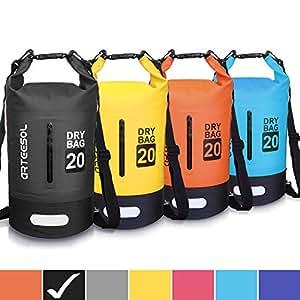 Blackace Bolsa Impermeable, 5L 10L 20L 30L a Prueba de Agua Bolso Seco/Bolsa Seca Impermeable con Correa Ajustable Larga para Kayak Paseo en Barco ...