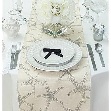 Appleberry Attic Starfish Table Runner Collection (Grey) Handmade in USA