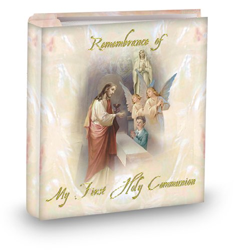 (WJ Hirten 3917-678 Boy First Communion Album, Holds 50 Photos)