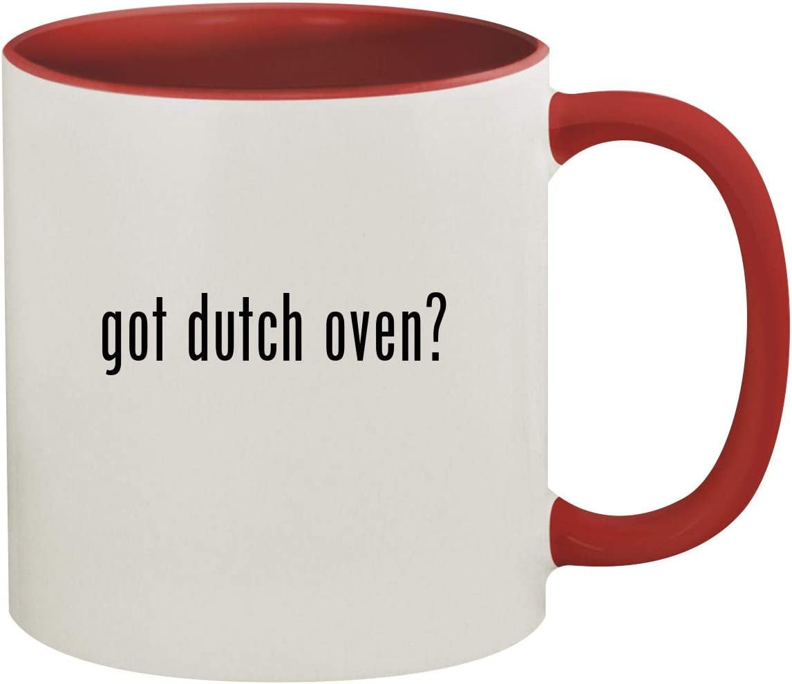 got dutch oven? - 11oz Ceramic Colored Inside & Handle Coffee Mug, Red