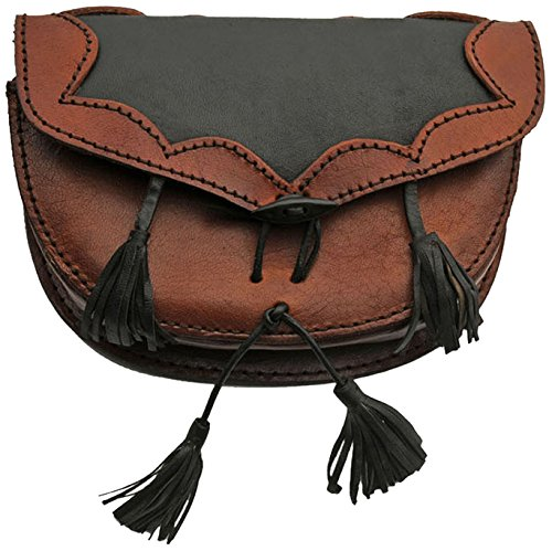 SZCO Supplies Medieval Black/Brown Belt Bag Leather Bag