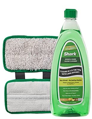 Shark Wood and Hard Floor Cleaner Concentrate and Microfiber Pad for Sonic Duo System