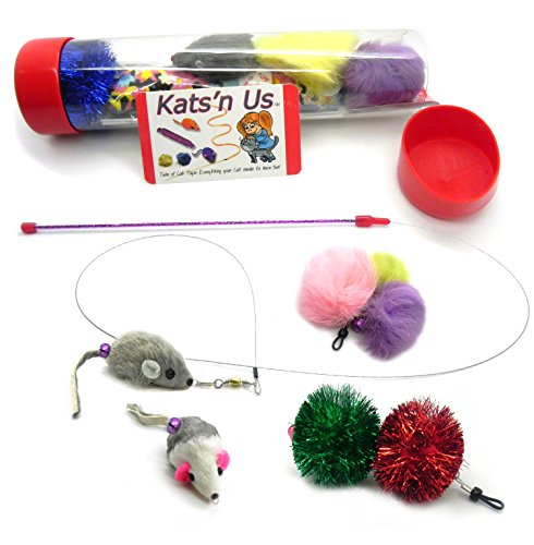 Mouse Teaser Wand Toy & Accessory Refill Kit ()