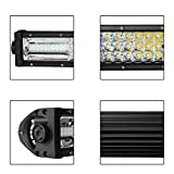 LED Light Bar With Wiring Harness, Offroad Town 30 Inch 405w Flood Spot Combo LED Light Bar Fog Light IP68 Waterproof for Off-road, UTV, Truck, ATV, SUV, Jeep