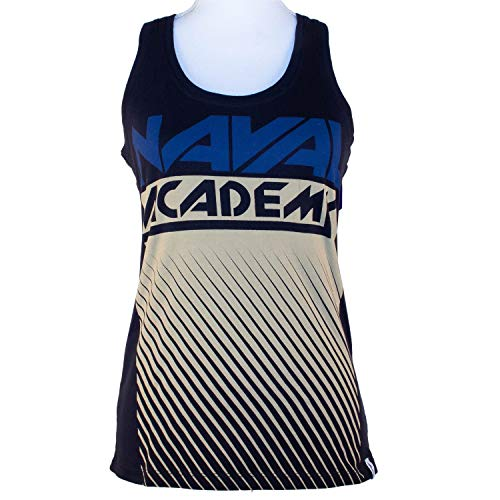 Flying Colors Womens United States Naval Academy Racer Back Fade Out Tank,Small