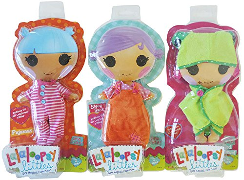 - Lalaloopsy littles doll clothes bundle, ultimate fashion pack includes (3 outfits); pajamas, hooded towel, sleep sack