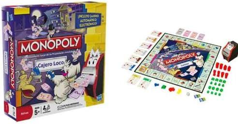 Hasbro Juegos en Familia Monopoly Cajero Loco 00271105: Amazon.es: Juguetes y juegos
