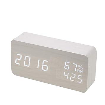 Reloj despertador digital mesa infantil, Alarm Clock Despertador Digital con Pantalla LED, reloj despertador digital de mesa LED niña para dormitorio y unas ...