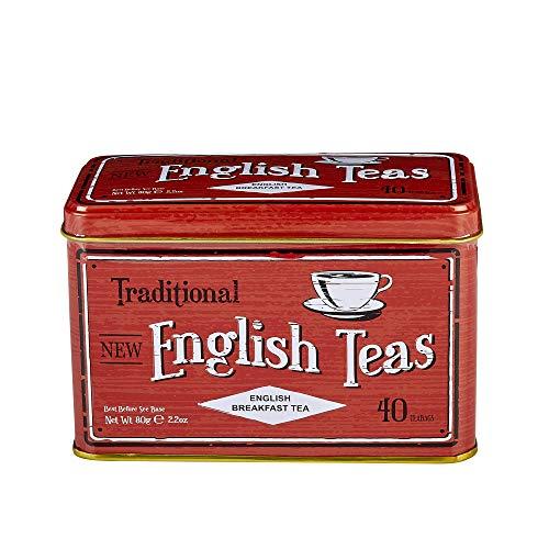 - English Tea, Vintage Selection Breakfast Tea - Traditional English Breakfast Tea in Vintage Caddy
