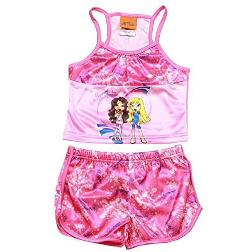 2 Bratz - Bratz Lil Girl's Pink 2 Piece Pajama Tank Top & Short Sleepwear Set Sz. 4/5
