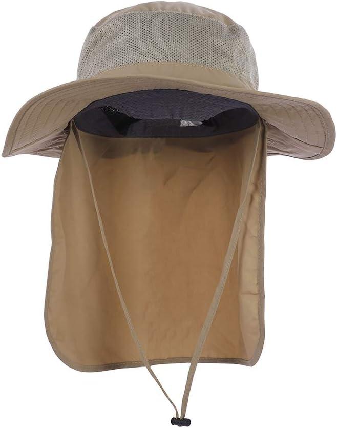 Balai Sonnenhut Herren Damen Outdoor Sonnenhut Sommer Bucket Hat UV Schutz mit Nackenschutz Faltbar Unisex Buschhut Safari Hut Fischerhut Hiking Boonie Hut