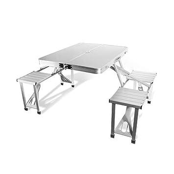SKYSC Juego de sillas de mesa plegables para picnic y ...
