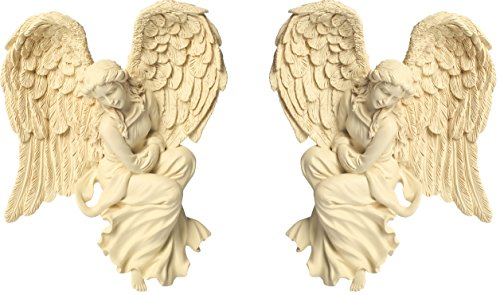 "AngelStar 8013 7"" Corner Angel Gift Set, Courage, Set of 2 Angel Star Figurine"