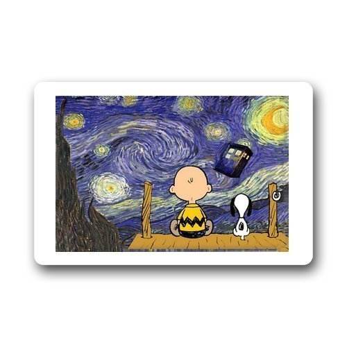 MedieMo Best Bags Personalized Custom Doctor Who and Snoopy Doormat (L23.6