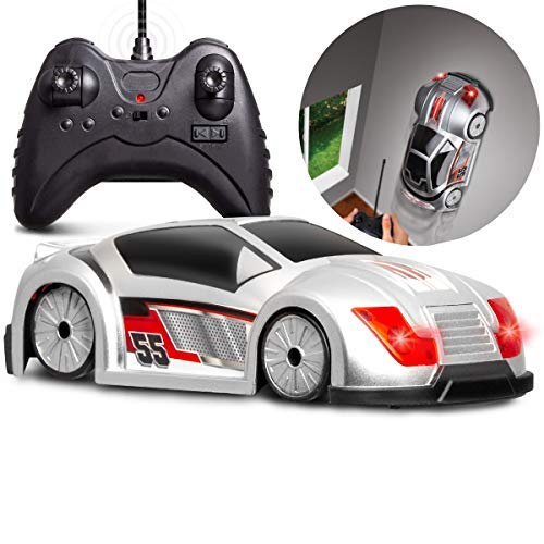 (Black Series Mini RC Xtreme Wall Racer Race Car Toy, Grips On Floor/Ceiling/Walls, High Speed Performance, Full Function Wireless Remote Control, Built in Lights/Radio Frequencies, Perfect for Kids)