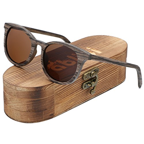 Ablibi Women Men Wood Bamboo Sunglasses Women Vintage Luxury Brand Designer Polarized Sun Glasses (swiss walnut, - Brands Swiss Sunglasses
