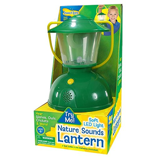 Kid's Nature Camping Lantern - Plays Nighttime Safari Sounds - Cast Shadows of Animals And Trees With Realistic LED