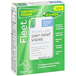 Fleet Rectal Care Pain Relief Wipes, 24 Count