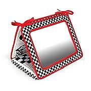 Black, White & Red, Smile! Baby 2-in-1 Crib & Floor Mirror