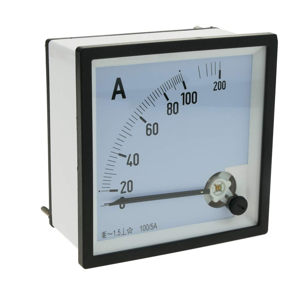 Medidor el/éctrico anal/ógico de panel cuadrado 96x96mm 100A//5A amper/ímetro Cablematic