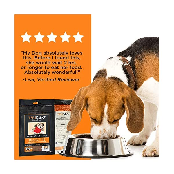 TruDog: Feed Me: Freeze Dried Raw Superfood - Real Meat Dog Food - Optimal Canine Health and Natural Longevity - All Natural - Balanced Nutrition - No Filters, No Grain - Just Add Water 6
