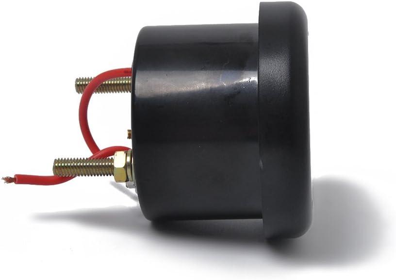 52mm//2in Indicador de alarma multifunci/ón 4LED Voltio Temperatura del agua Indicador de alarma de presi/ón de aceite 12//24V para embarcaci/ón marina Indicador de alarma de barco Blanco