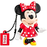 Tribe Disney Minnie Mouse Chiavetta USB da 16 GB Pendrive Memoria USB Flash Drive 2.0 Memory Stick, Idee Regalo Originali, Figurine 3D, Archiviazione Dati USB Gadget in PVC con Portachiavi - Multicolore