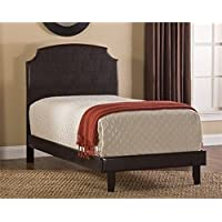 Atlin Designs Upholstered Twin Bed in Brown