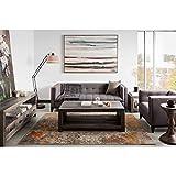 Aurelle Home London Mid-century Modern Sofa Dark Grey Sofa