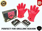 Introducing a New BBQ Tool Set for the Master Chef! Premium Kitchen Gadget for the Home Kitchen, Backyard Barbecue, Tailgating Event or Rv Kitchen. Heat Resistant Silicone Gloves & Meat Claw. Makes a Great Birthday Gift for Him. 100% Satisfaction Guarante