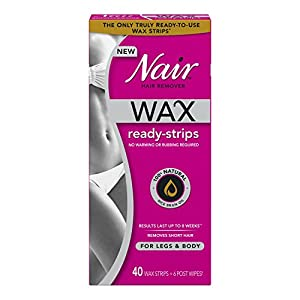 Nair Wax Ready-Strips for Legs and Body, 40 Count (Pack of 3)
