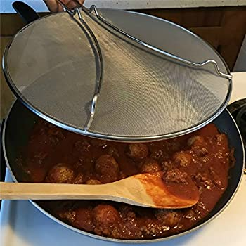 """'Splatter Screen Bacon Grease Guard Hot Oil Splash Shield 