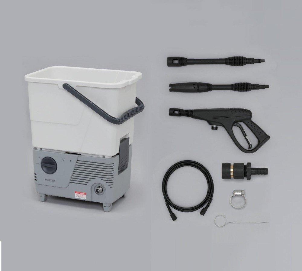 家庭用 高圧洗浄機 コンパクト に収納出来る 人気の商品家電 タンク式高圧洗浄機 ホワイト/グレー  B00YO5EC38