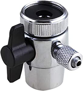 """PureSec 2020 Single Way Faucet Diverter Valve with Aerator M22(22MM) Female Thread, Faucet Adapter for 1/4"""" RO Tubing,Faucet Connector for Water Diversion,Faucet Tap for Countertop water Filter"""