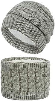 BAVST Baby Toddler Beanies Winter Knit Hat Scarf Set for Infant Kids Boys Girls Warm Caps Neck Warmer 2PCS