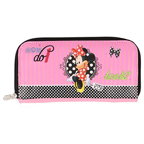 look Leather Minnie Clutch Pink Official Bag 'Faux' Purse Mouse CX7nwqO
