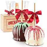 Golden State Fruit Holiday Milk & White Chocolate Covered Caramel Apples Gift Crate